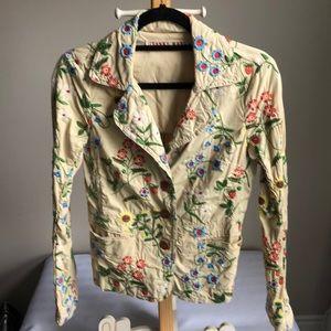 JOHNNY WAS floral blazer size xs